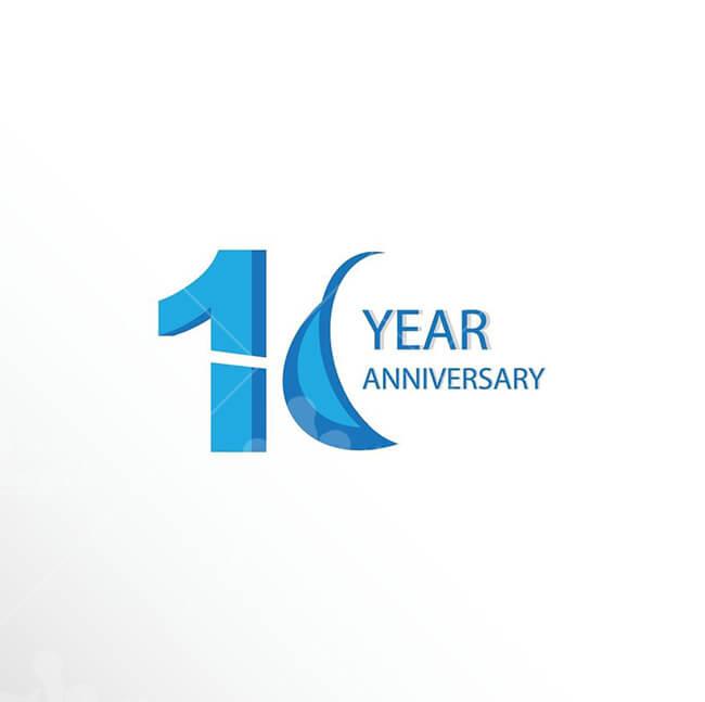 Logo kỷ niệm 10 năm - mẫu 1