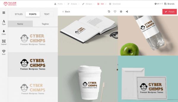 Phần mềm tạo logo onlineTailor Brands
